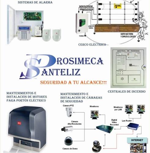 mantenimiento de portón, cerco eléctrico, central de alarma