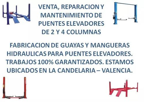 mantenimiento de puentes elevadores