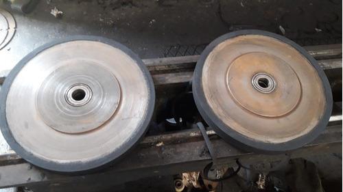 mantenimiento de rodillos, polin, ruedas vulcanizado
