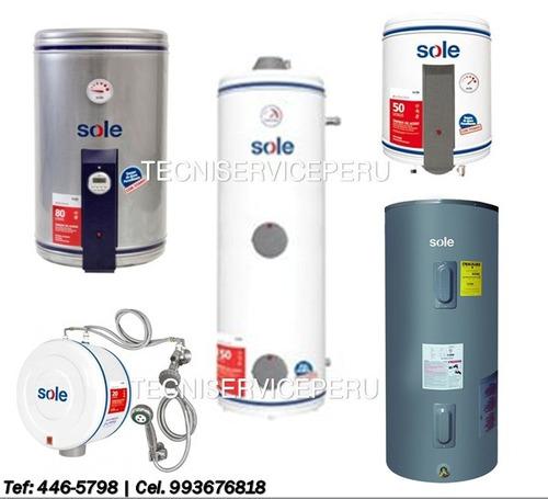 mantenimiento de thermas a gas/ eléctricas
