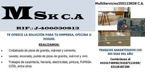 mantenimiento del hogar /pisos/electricidad/plomeria. ver