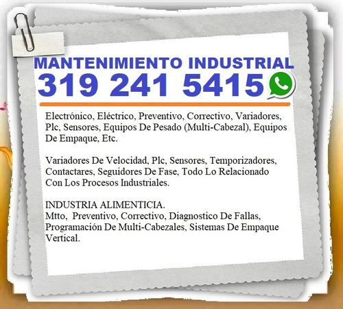 mantenimiento industrial, electrónico, eléctrico, preventivo