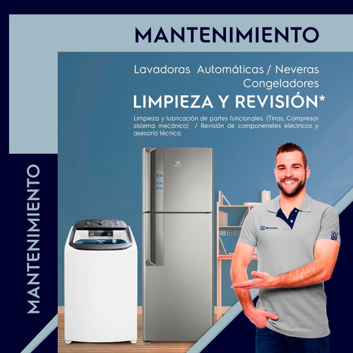 mantenimiento lavadora, nevera, congelador, vitrina, ac port