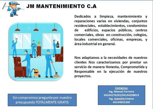 mantenimiento limpieza reparaciones en general construccion