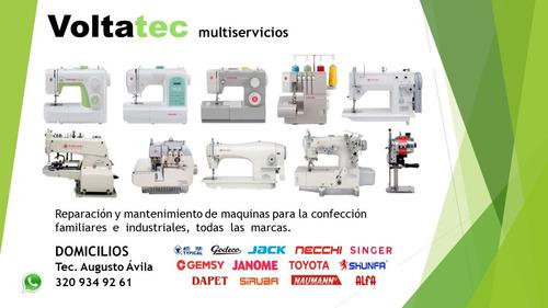 mantenimiento máquinas de coser industriales y familiares