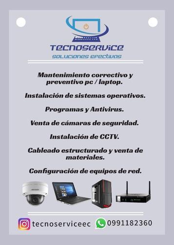 mantenimiento pc/laptop. venta e instalación equipos de red