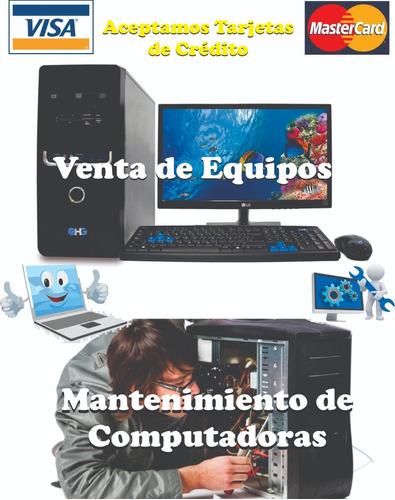 mantenimiento preventivo y correctivo computadoras