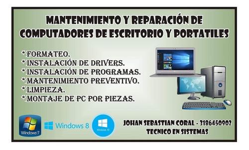mantenimiento preventivo y correctivo de computadores