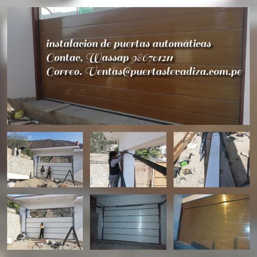 mantenimiento puertas levadizas automática garaje reparación