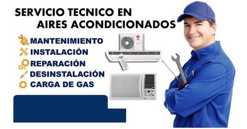 mantenimiento ,reparación  de aires acondicionado