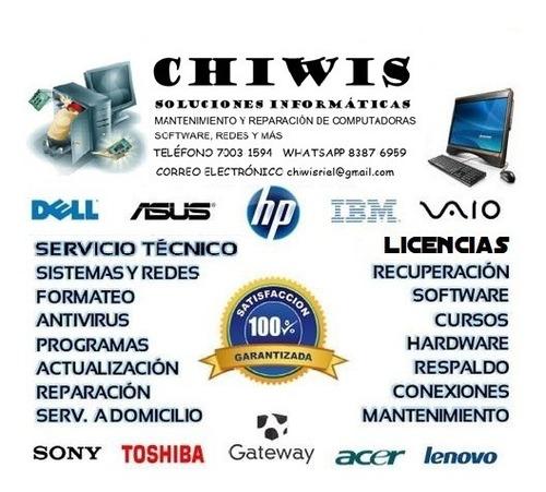 mantenimiento reparación de computadoras y redes de internet