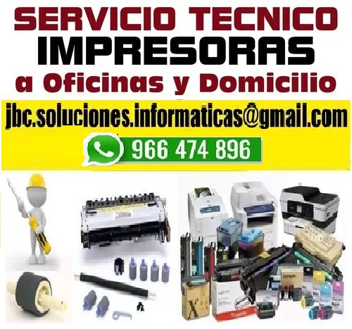 mantenimiento reparación impresor brother xerox hp 966474896
