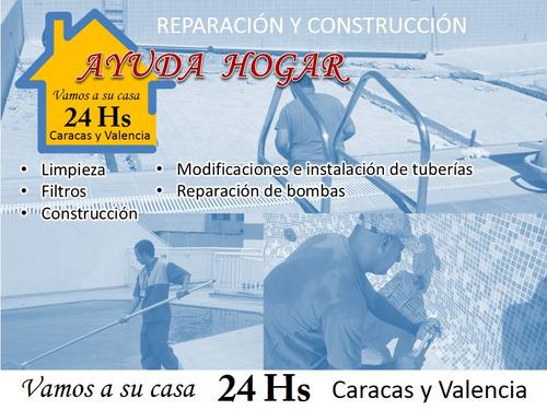 mantenimiento - reparación - piscinas -condominios -clubes