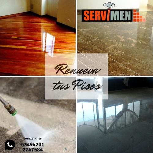 mantenimiento y pulitura de pisos