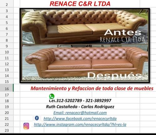mantenimiento y refaccion de muebles en cuero y otros