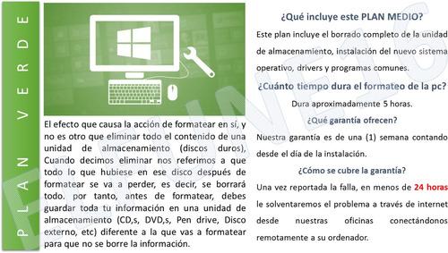 mantenimiento y reparación de computadoras a domicilio