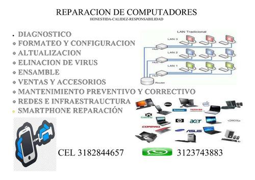mantenimiento y reparación de computadores