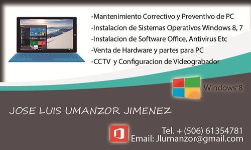 mantenimiento y reparacion de pc - windows antivirus office