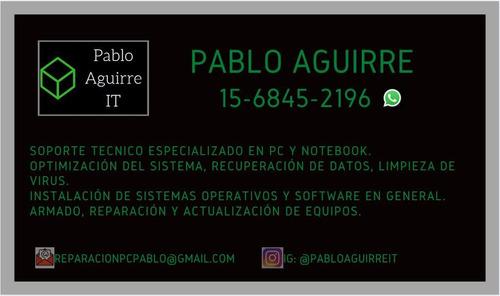 mantenimiento y reparación de pc y notebook