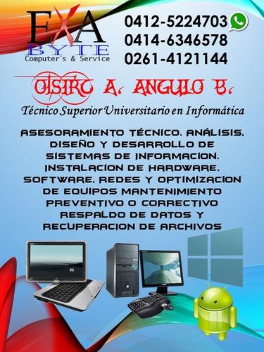 mantenimiento y reparación de pc's y laptops