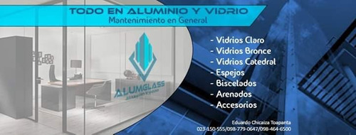 mantenimiento y trabajos en aluminio y vidrio