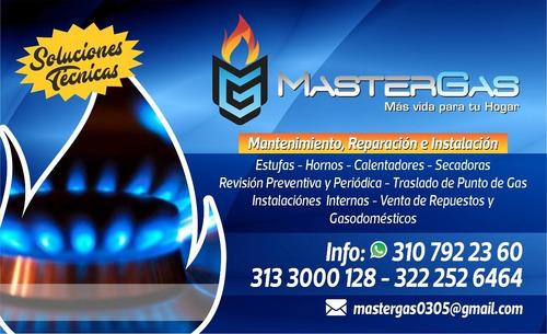 mantenimientos a estufas hornos calentadores y secadoras