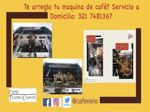 mantenimiento,venta de equipo de maquinas de cafe, e insumos