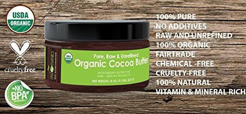 mantequilla de cacao orgánica usda sky organics mantequilla