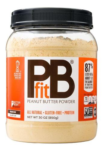 mantequilla de mani natural en polvo pbfit sin gluten