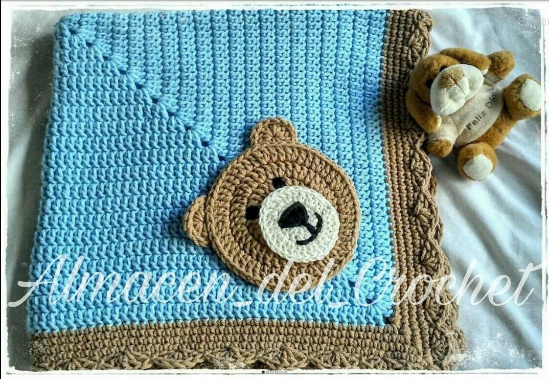 Mantilla Manta Para Bebes Tejida A Crochet Modelo Benicio - $ 399,00 ...