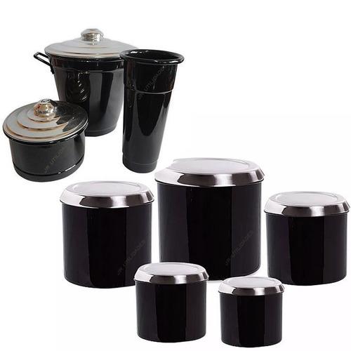 mantimento potes porta condimento + kit de pia branco 013 8