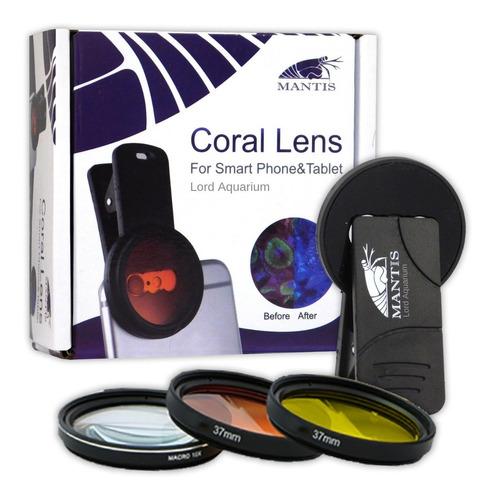 mantis kit lentes de celular para fotografia de corais