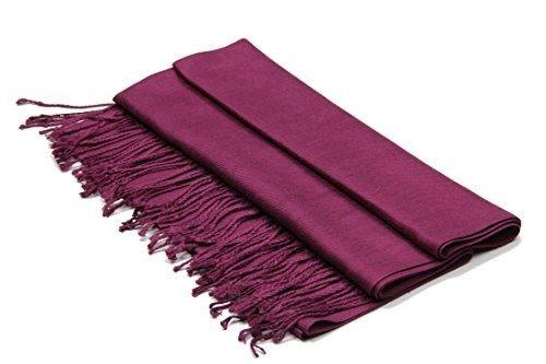 mantón grande y sedoso de pashmina chal de achillea en color