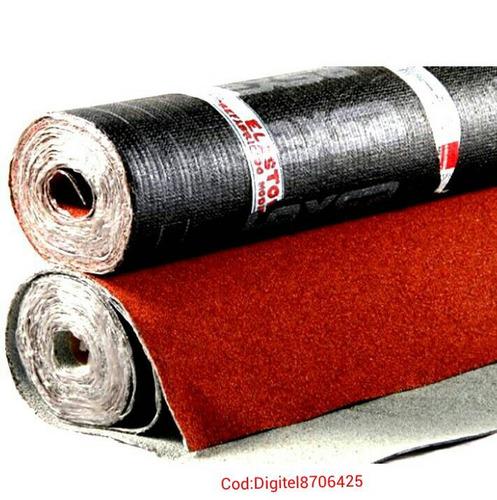 mantos asfalticos granulado rojo