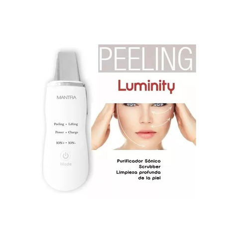 mantra luminity scrubber ultrasonido ion peeling lifting