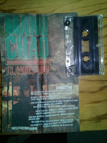 manu chao clandestino cassette promo muy raro