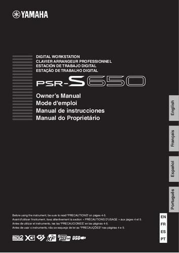 manual atualizado teclado yamaha psr-e433 em português - pdf