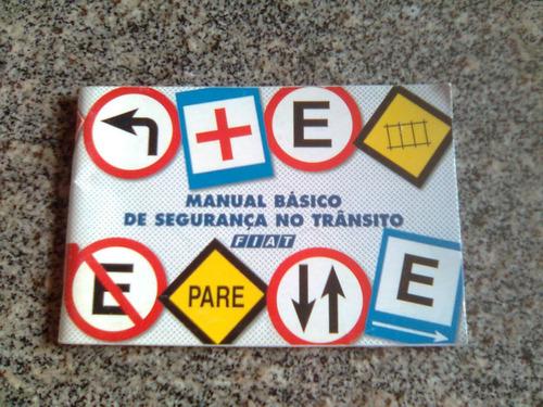 manual básico se segurança  no trânsito da fiat 2001