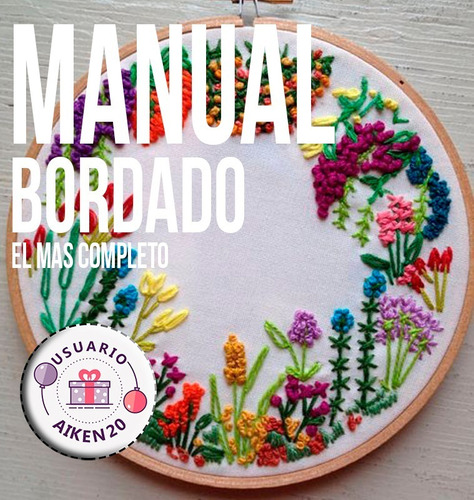 manual bordado  + de 200 tecnicas