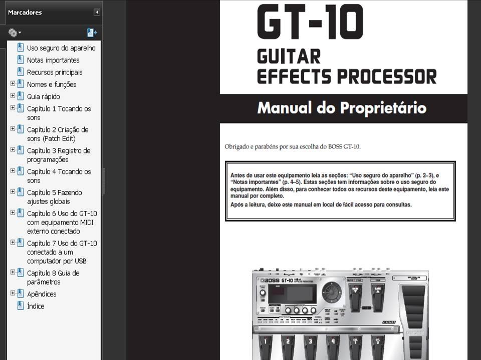 manual boss gt 100 gt 10 gt 10b gt 8 gt 6 gt 6b r 10 00 em rh produto mercadolivre com br boss gt 10 manual download boss gt 10 manual download
