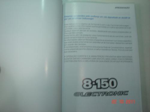 manual caminhão ônibus vw 8-150 eletronic truck bau frete