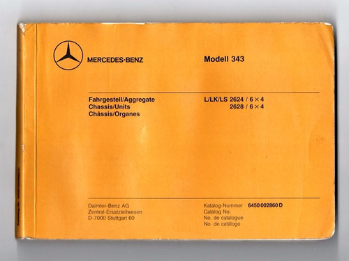 manual chassis caminhao mercedes benz 2624 2628 - 1987