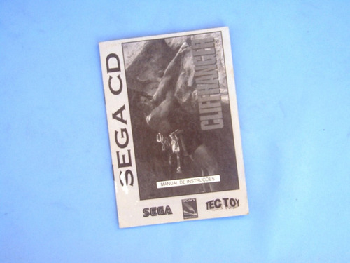 manual cliffhanger - tec toy - sega cd - original