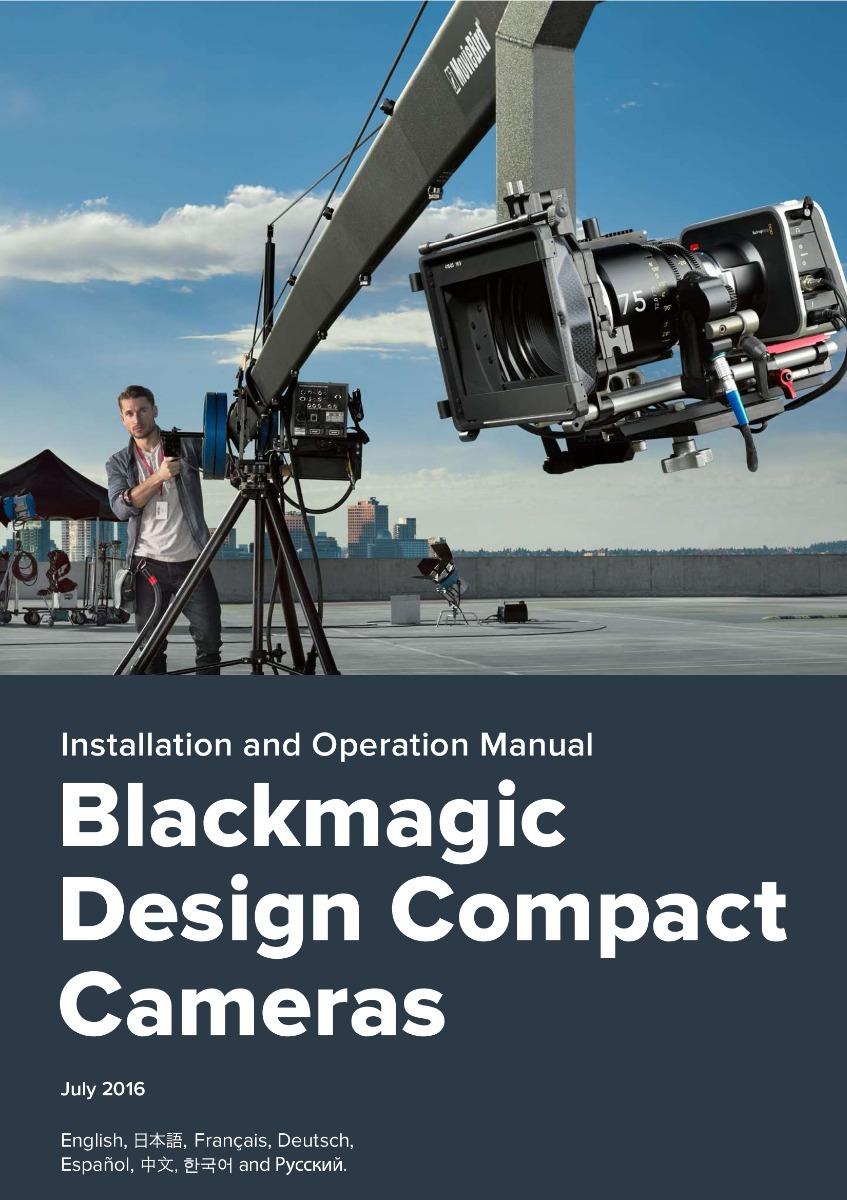 Manual Da Blackmagic Cinema Camera E Pocket