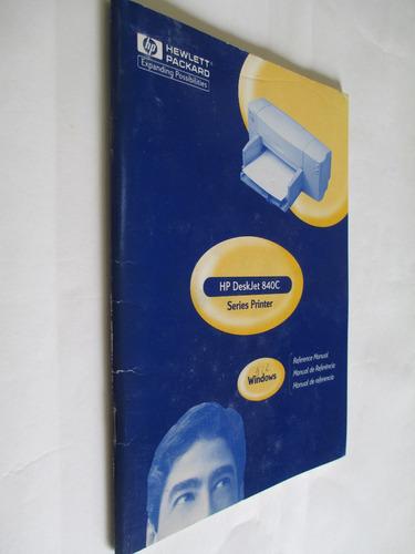 manual da impressora hp deskjet 840c - series pinter