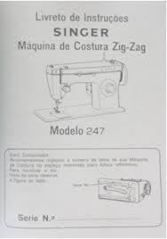 manual da maquina costura singer 247 instruções de uso