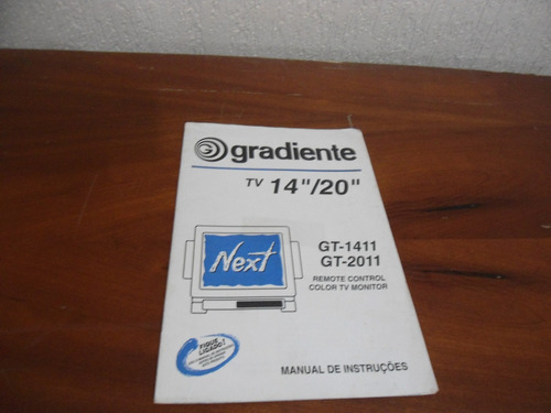 manual da tv gradiente next gt-14