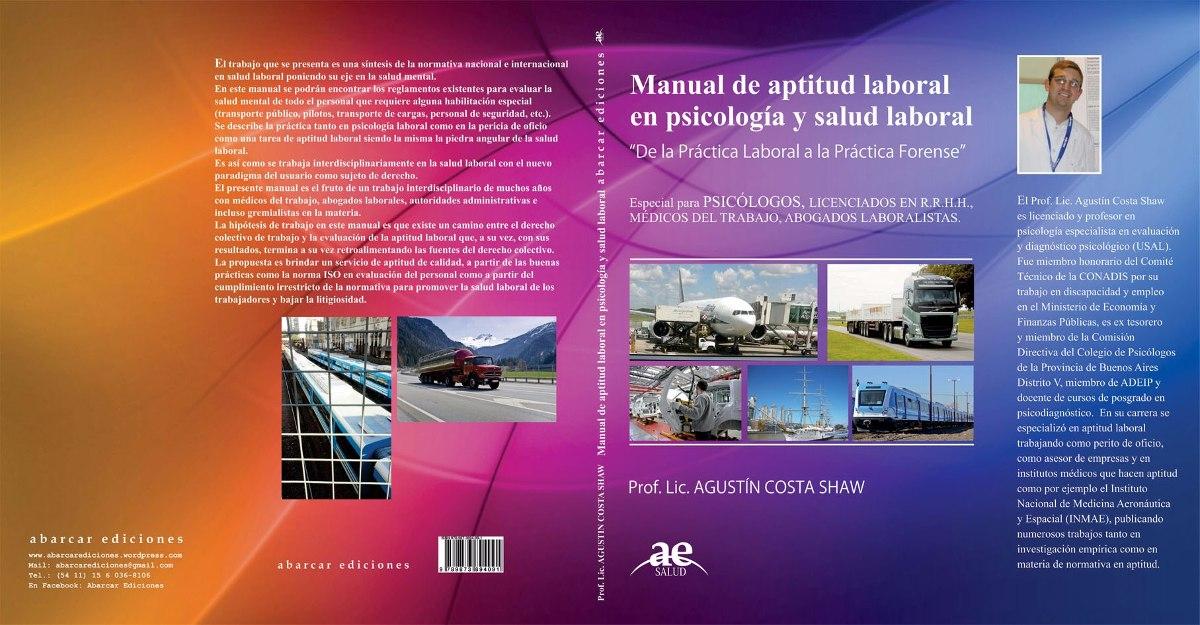 Manual De Aptitud Laboral En Psicología Y Salud Laboral - $ 400,00 ...