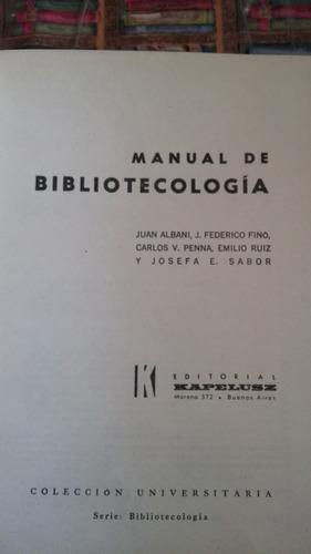 manual de bibliotecologia kapelusz