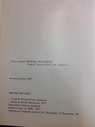 manual de bombas 4ª edición. luis jiménez. ed. blume.